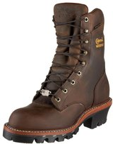 Chippewa Men's Logger Waterproof Rugged Outdoor Boots- 9-Inch