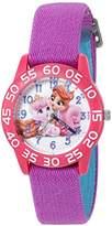 Disney Girl's 'Palace Pet' Quartz Plastic and Nylon Watch, Color:Purple (Model: W002833)