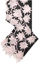 Valentino Floral-print Silk-chiffon Scarf - Black