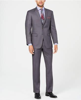 Perry Ellis Men Slim-Fit Comfort Stretch Gray Sharkskin Suit