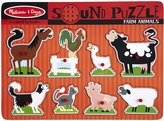 Melissa & Doug Farm Animals Sound Puzzle (8 pc)
