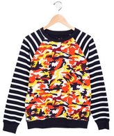 Junior Gaultier Boys' Teo Patterned Sweatshirt w/ Tags