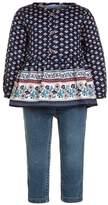 Carter's GIRL GEO PRINT PANT BABY SET Slim fit jeans denim