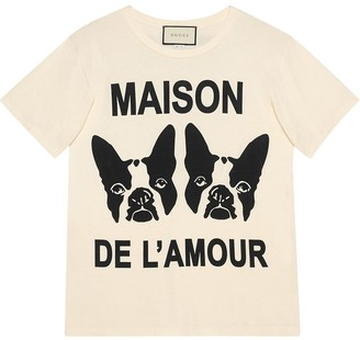 "Gucci ""Maison de l'Amour"" T-shirt with Bosco and Orso"