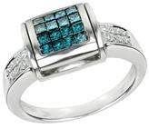 Effy Jewelry Diversa Black & Blue and White Diamond Ring, 1.18 TCW