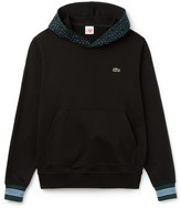 Lacoste Leopard Print Hooded Sweatshirt Black - Large - Black