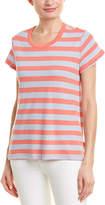 Splendid Striped Linen-Blend Top