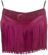 Roberto Cavalli Purple Leather Skirt for Women