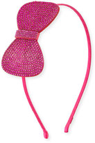 Bari Lynn Girls' Rhinestone Bow Headband, Hot Pink