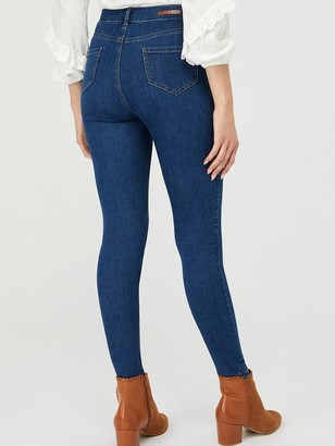 Monsoon Iris Skinny Cotton Short Length Jeans - Blue