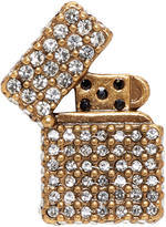 Marc Jacobs Gold Strass Lighter Pin