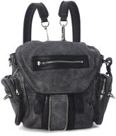 Alexander Wang Mini Marti Backpack In Black And Grey Faded Vintage Leather