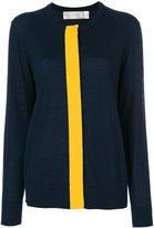 Victoria Victoria Beckham - contrast stripe cardigan - women - Wool - 8