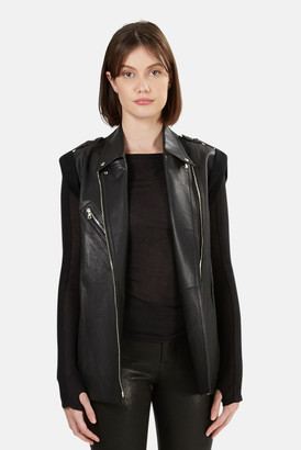 Alexander Wang Leather Motorcycle Vest
