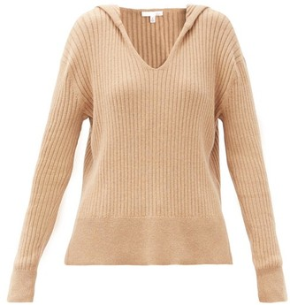 Skin Madeira Hooded Ribbed Cotton-blend Sweater - Light Brown