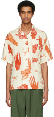 Acne Studios Off-White Shell Print Short Sleeve Shirt