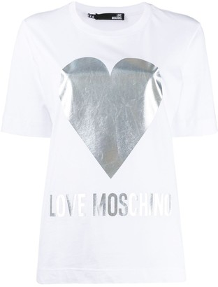 Love Moschino printed logo T-shirt