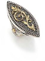 Konstantino Hebe 18K Yellow Gold & Sterling Silver Marquise Ring