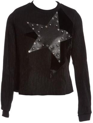 Anthony Vaccarello Black Viscose Knitwear