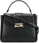Bulgari fold-over closure tote - women - Leather - One Size