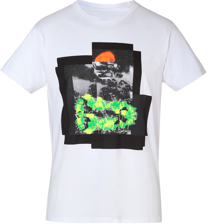 Marc by Marc Jacobs Wicken White/Multi Cotton Neon Collage T-Shirt