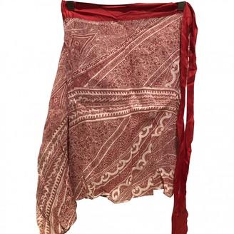 Etro Red Linen Skirt for Women