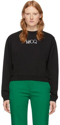 McQ Black Swallow Cameo Logo Sweatshirt