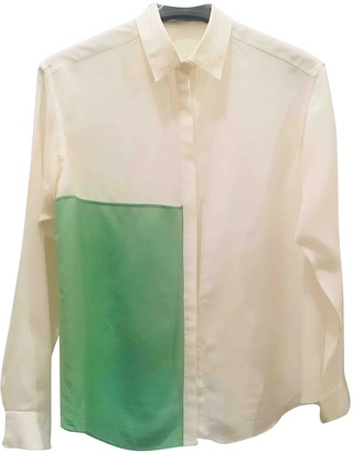 Aquilano Rimondi White Silk Top for Women