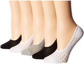 Steve Madden 5-Pack Footies Women's Crew Cut Socks Shoes