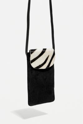 Urban Outfitters Animal Print Pouch Crossbody - Black ALL at