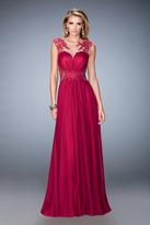 La Femme 21921 Illusion Embellished Chiffon Gown
