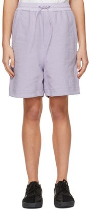 Y-3 Purple Classic Terry Shorts