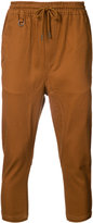 Publish cropped drawstring trousers - men - Cotton/Spandex/Elastane - 28