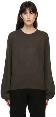 Frenckenberger Green Cashmere Mini R-Neck Sweater