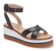 Lucky Brand Women's Tarhi Ankle-Strap Wedge Platform Sandals Women's Shoes