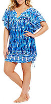 Dotti Plus Ikat Goddess Flutter Tunic Cover-Up