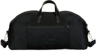 Giorgio Armani Men's Nylon Carryall Duffel Bag, Black