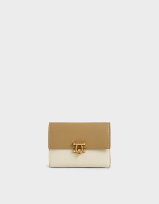 Charles & Keith Metal Accent Mini Short Wallet