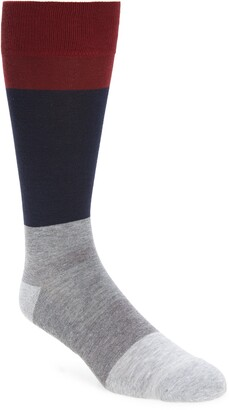 Nordstrom CoolMax(R) Colorblock Tall Socks