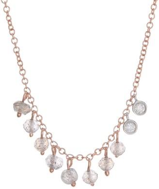 Meira T 14K Rose Gold Labradorite Trim Necklace