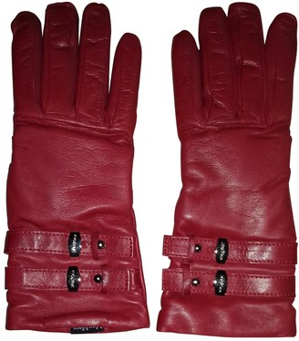 Max Mara Red Leather Gloves