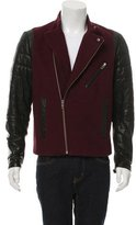 Yigal Azrouel Leather-Paneled Moto Jacket