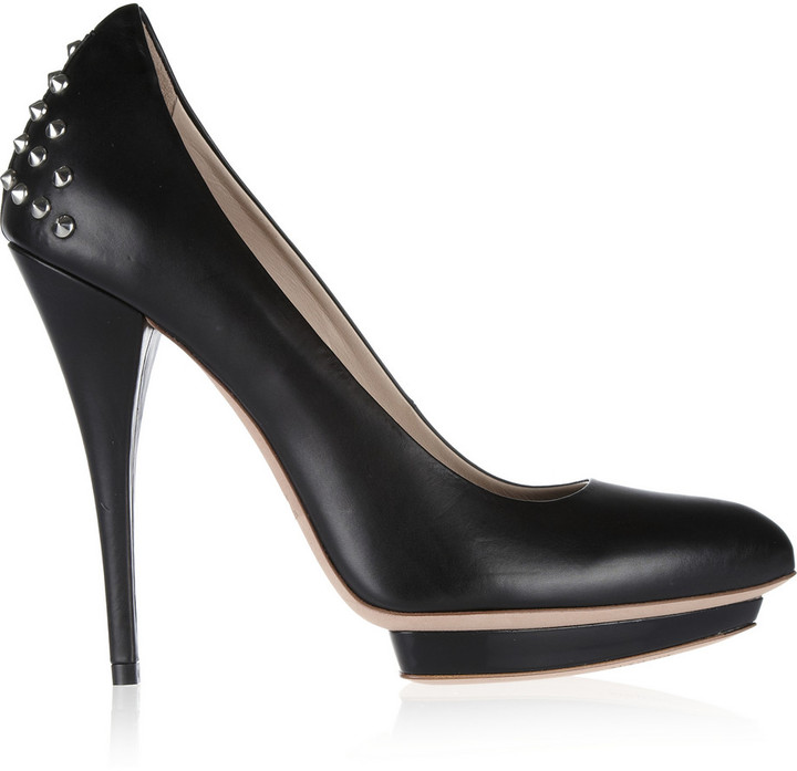 McQ Studded leather pumps