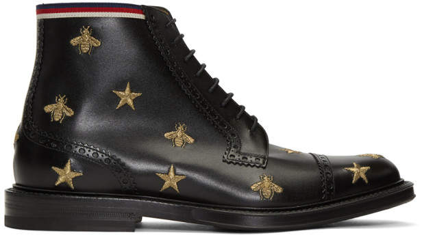 Gucci Black Beyond Lace-Up Boots