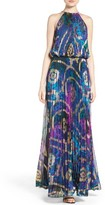 Xscape Evenings Women's Pleated Blouson Gown