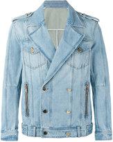 Balmain double-breasted denim jacket - men - Cotton - 46