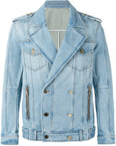 Balmain double-breasted denim jacket