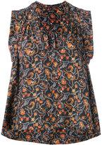 Isabel Marant foliage print sleeveless top - women - Silk - 34