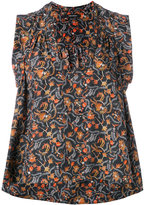 Isabel Marant foliage print sleeveless top - women - Silk - 38