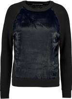 J Brand Erin velvet-paneled merino wool sweater
